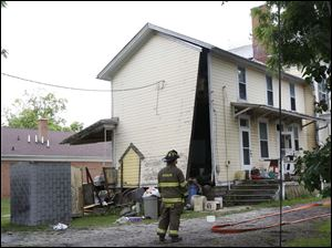 The house was blown off its foundation, and many of the windows were blown out.