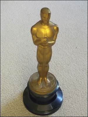"The Academy Award Oscar statue was awarded for color art direction in 1942 to Joseph C. Wright for his work on ""My Gal Sal."""