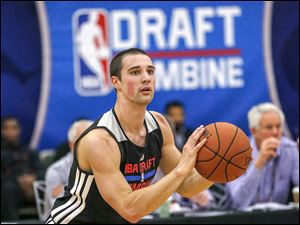 Aaron Craft from Ohio State participates in the 2014 NBA basketball Draft Combine.