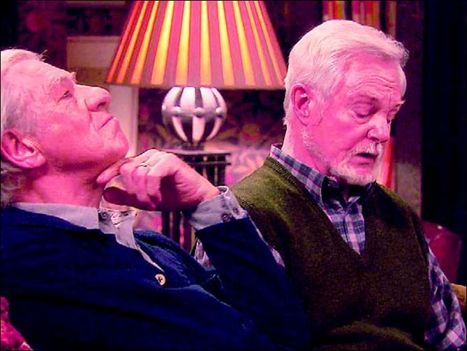 senior1.jpg Ian McKellan, left, and Derek Jacobi star as partners in a love/hate relationship in 'Vicious,' which debuts Sunday.