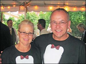 Chuck and Joy Woodmancy ordered special penguin t-shirts for the occasion and th