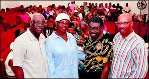 Founders, from left, Larry A. Jones, Geraldine Scrutchins, the Rev. Derrick Roberts and Brian K. Thomas.