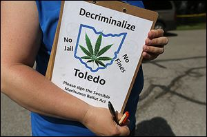Ohio's chapter of the National Organization for the Reform of Marijuana Laws  is seeking signatures for two bal­lot ini­tia­tives — one that would ease mar­i­juana law in Toledo, the other state­wide.