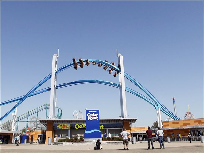 CTY cedarpoint10p gatekeeper Chief Executive Officer Matt Ouimet, will ring the NYSE's closing bell at Cedar Point's front gate with its soaring GateKeeper roller coaster providing a spectacular backdrop.