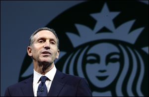 "Starbucks CEO Howard Schultz is collaborating on a book about veterans of the wars in Iraq and Afghanistan, ""For Love of Country: What Our Veterans Can Teach Us About Citizenship, Heroism, and Sacrifice."""
