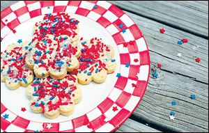 Cookies with star sprinkles for the 4th of July.