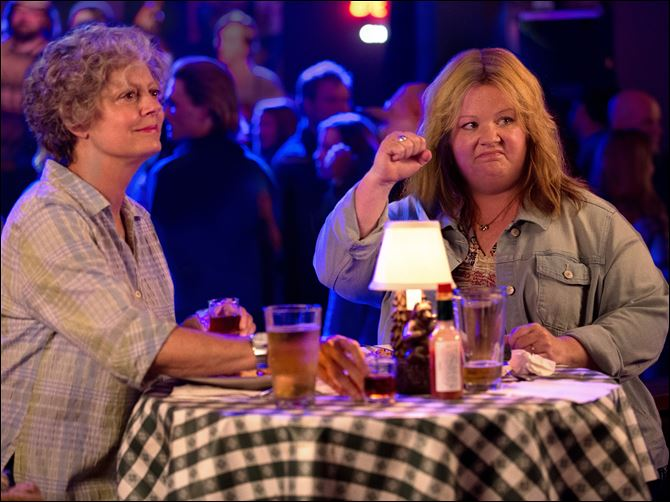 Film Review Tammy Susan Sarandon, left, and Melissa McCarthy in a scene from