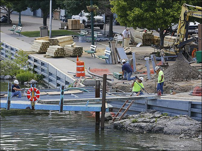 n4pib-4 While Put-in-Bay's C dock has been open for the last two weekends, both A and C docks should be consistently open by Thursday, village leaders say. The project's original completion goal was May 22.