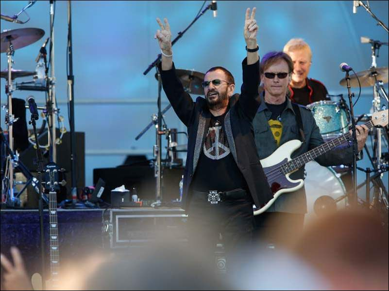 Ringo Starr performs with his All-Starr Band at the Toledo Zoo Amphitheater.
