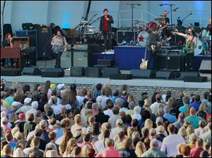 Ringo Starr and His All-Starr Band perform at the Toledo Zoo Amphitheater Tuesday evening.