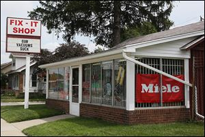 The Fix It Shop, a vacuum sales and repair shop in North Toledo, which has been operating at its current location since 1964. Originally opened in 1926 as a small appliance repair and sale shop, Mr. Janiszewski began working for his father at the store in 1969, making $1 an hour.