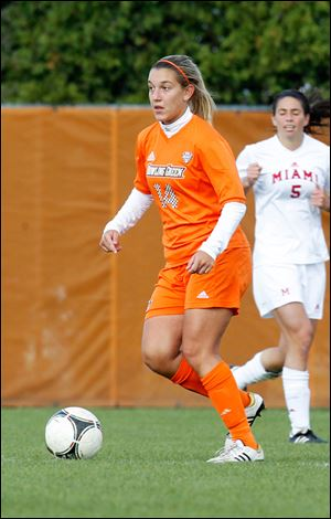 Ivi Casagrande of Belo Horizonte, Brazil, was a defender for the Bowling Green women's soccer team. She started 17 of  her 49 matches and was academic All-Mid-American Conference honorable mention.