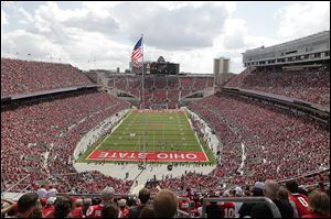 Ohio Stadium on the campus of Ohio State University in Columbus.