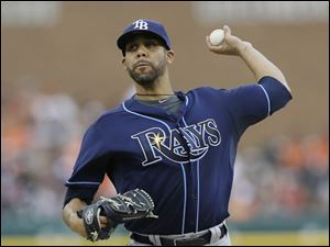 Tampa Bay Rays starting pitcher David Price delivers a pitch
