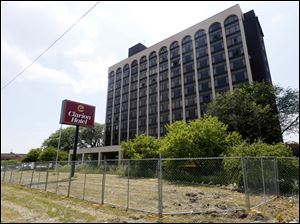 The former Clarion Hotel which will be demolished.