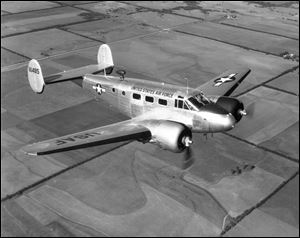 A U.S. Air Force C-45 aircraft was abandoned during flight by its crew in 1952 has been located in deep water off Oswego, New York.