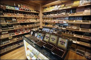 Third Street Cigar also is a retail store with cigars in the $5 to $8 range, but with some selling for as much as $30. The store's custom-built  humidor has a computer-controlled atmosphere to  keep the tobacco fresh.