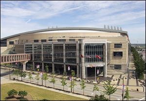 Cleveland's Quicken Loans Arena, in this 2006 photo, will be the main site for the 2016 Republican National Convention. Other convention activities will be spread throughout the city.