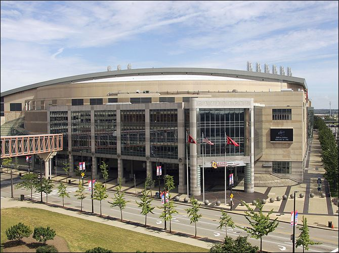 n4q-1 Cleveland's Quicken Loans Arena, in this 2006 photo, will be the main site for the 2016 Republican National Convention. Other convention activities will be spread throughout the city.