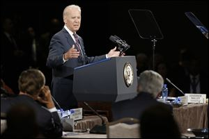Vice President Joe Biden speaks at the National Governors Association convention today in Nashville, Tenn.