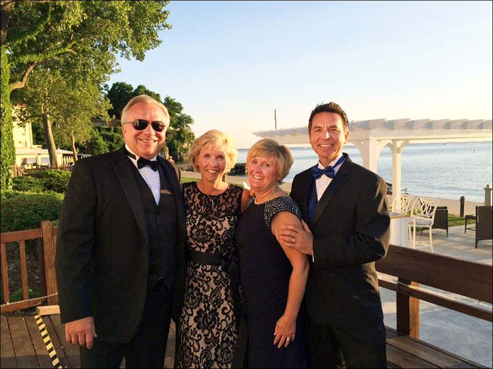 Commodore's Ball at the Catawba Island Club Greg & Sandy Schill of Catawba and Ann & John Mangas.