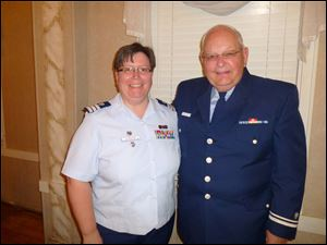 Cathie Slabaugh and Harry Archer at the 75th U.S. Coast Guard auxiliary.