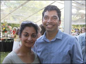 Shaila and Karl Fernandes at the Preview Gala for the 49th Annual Crosby Festival of the Arts in Toledo.