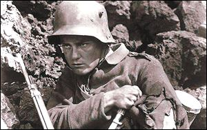 "Lew Ayres starred in the film ""All Quiet on the Western Front,"" based on the anti-war novel."