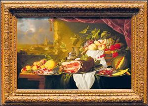 Still Life with a View of the Sea, by Jan Davidsz de Heem.