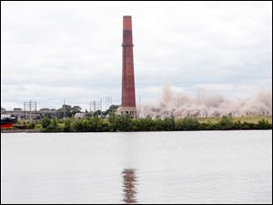 The remaining and largest smokestack left standing.