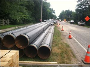 Columbia Gas said the Maumee River Crossing Project should be completed by the end of October.