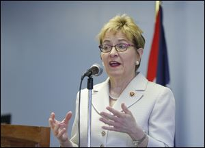 U.S. Rep. Marcy Kaptur (D., Toledo) has ancestors who were born in Ukraine.
