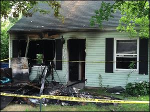 Emergency crews were called to 6032 Van Wormer Drive about 12:50 a.m. This is how the home looked this morning.