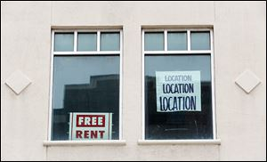 The owner of the building at 502 Adams St. put this sign in the window in 2011.