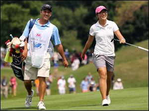 Lydia Ko approaches the #9 hole.