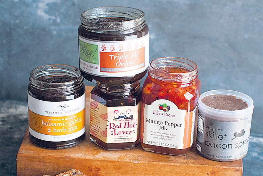 An-assortment-of-savory-jams