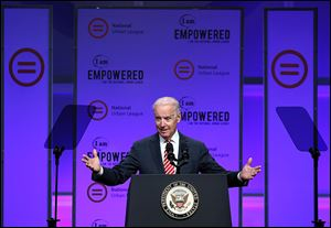 Vice President Joe Biden speaks at the National Urban League conference in Cincinnati.