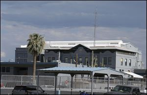 The Arizona state prison where the nearly two hour execution of Joseph Rudolph Wood took place on Wednesday in Florence, Ariz.  Wood was convicted in the 1989 shooting deaths of Debbie Dietz, 29, and Gene Dietz, 55, at an auto repair shop in Tucson.