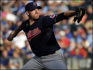 Cleveland Indians starting pitcher Zach McAllister throws against the Kansas City Royals.