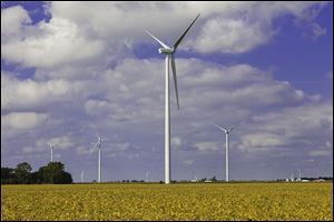 The $600 million Blue Creek Wind Farm in Van Wert and Paulding counties was Ohio's largest single investment in 2011.
