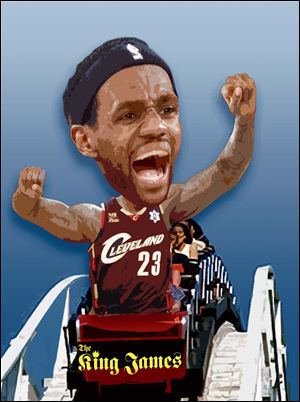 Bryan Edwards, public relations manager for Cedar Point, said there has been no determination as to what the amusement park — which has 17 roller coasters — would do to honor its offer to LeBron James.