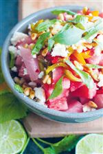 Spicy-watermelon-salad-with-feta-and-basil