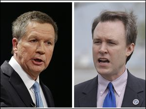 Kasich holds 12-point advantage in latest poll.
