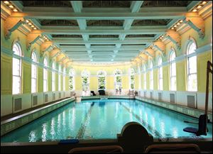 President Franklin Delano Roosevelt once swam in the indoor pool at the Omni Homestead Resort & Spa in Hot Springs, Va. It is filled with natural hot spring water and chlorine.