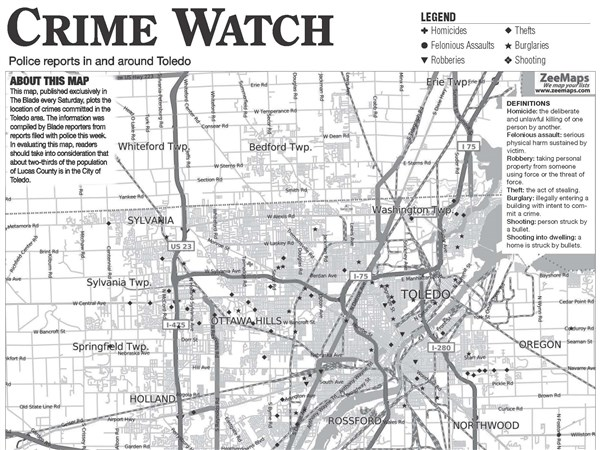 Suburban crime log: 8-2 | Toledo Blade