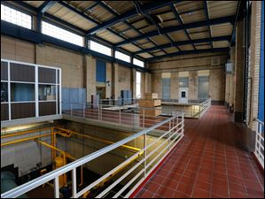 The high service pumping station at the water treatment facility.