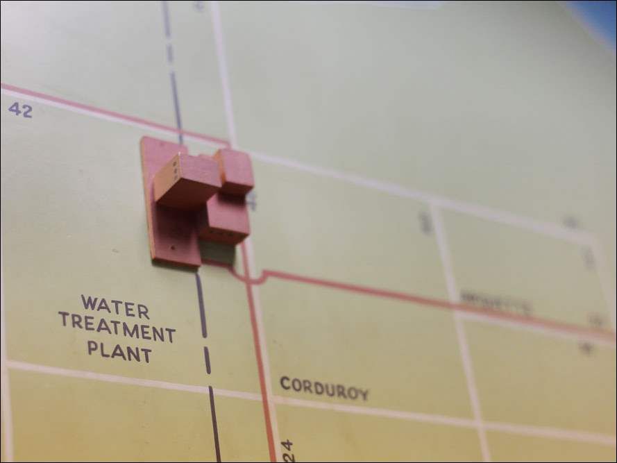 A map showing the water supply system at the Oregon Water Plant.