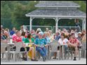 A large crowd turned out to listen as Air Margaritaville plays at Centennial Terrace,