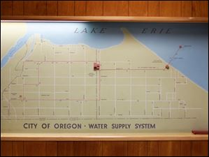 A map showing the water supply system.