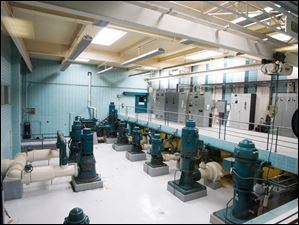 High service pumps at the Oregon Water Plant.